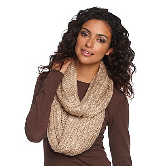 Calvin Klein Sequin Ribbed Infinity Scarf