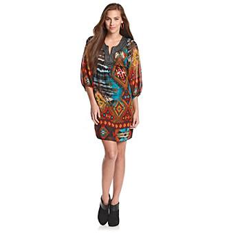 Oneworld® Chiffon Printed Dress
