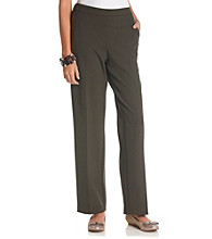 Briggs New York® Petites' Flat-Front Pull-On Pants