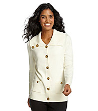 Jones New York Signature® Petites' Buttonfront Cardigan