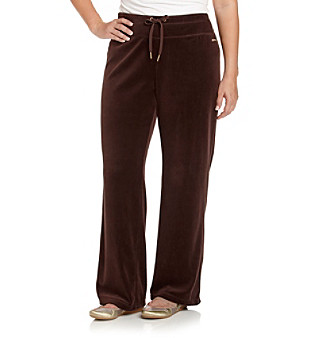 Calvin Klein Performance Plus Size Velour Drawstring Pant