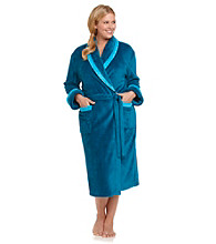 Jasmine Rose® Plus Size Fleece Wrap Robe