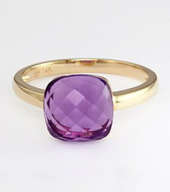 Effy® 14K Yellow Gold Amethyst Ring