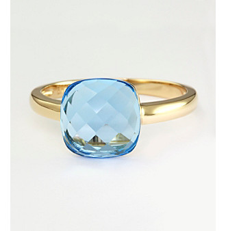 Effy® 14K Yellow Gold Blue Topaz Ring