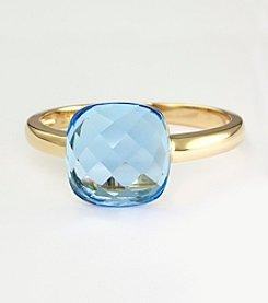 Effy® 14K Yellow Gold Blue Topaz Ring