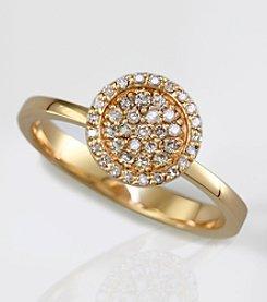 Effy® 14K Yellow Gold Diamond Ring