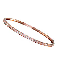 Effy® 14K Rose Gold Diamond Bangle Bracelet