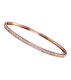 Effy® .57 Ct. T.W. 14K Rose Gold Diamond Bangle Bracelet