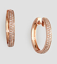 Effy® 14K Rose Gold Diamond Hoop Earrings
