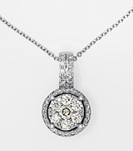 Effy® 14K White Gold Diamond Necklace
