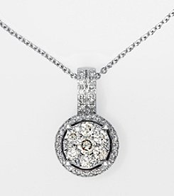 Effy® 14K White Gold .40 Ct. T.W. Diamond Necklace