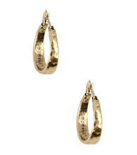 Nine West Vintage America Collection® Brass Ox Click-It Hoop Earrings
