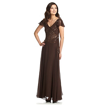 J Kara® Full-Length Beaded Gown