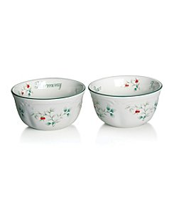 Pflatzgraff® Winterberry Set of 2 Sentiment Bowls