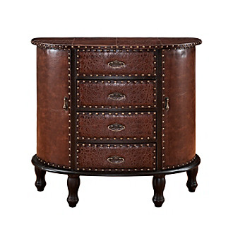 Powell® Expedition Chestnut Demilune Console