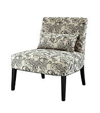 Powell® Lila Black and White Floral Armless Chair