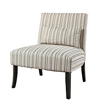 Powell® Lila Armless Chair with Striped Fabric