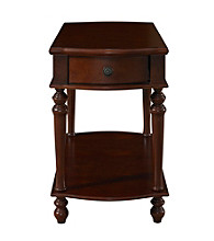 Powell® Cherry Finish Chairside Table with Drawer