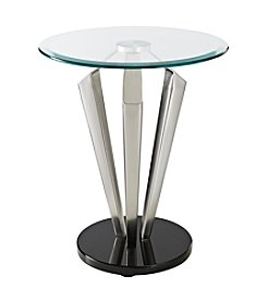 Powell® Tripod Metal and Glass Table