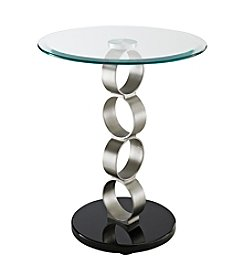 Powell® Circles Metal and Glass Table