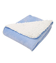 Trend Lab Blue and Cream Receiving Blanket
