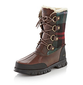 "Polo Ralph Lauren® Men's ""Elias"" Cold Weather Boot - Brown/Blue"