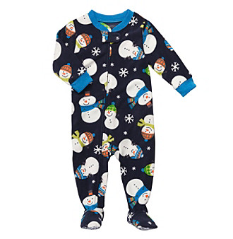 Carter's® Boys' 12M-4T Navy Snowman Footie Pajamas