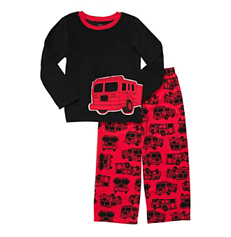 Carter's® Boys' 4-12 Black/Red Firetruck 2-pc. Pajama Set