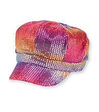 Miss Attitude Girls' Rainbow Sequin Cabbie Hat
