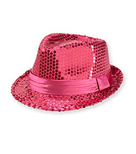 Miss Attitude Girls' Fuschia Sequin Fedora