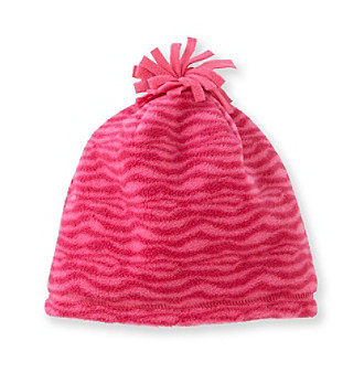 Mambo® Girls' 4-16 Pink Zebra Fleece Beanie Hat