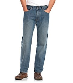 Ruff Hewn Men's Medium Stone Wash Classic Straight-Leg Jeans