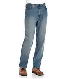 Ruff Hewn Men's Medium Stone Wash Relaxed-Fit Jeans