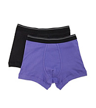 John Bartlett Statements Men's Black/Purple Trunk Underwear