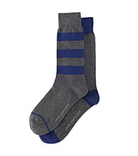 John Bartlett Statements Men's Rugby Striped Crew Socks