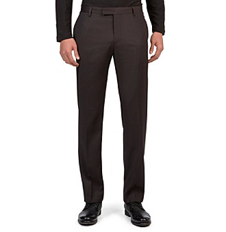 Kenneth Cole New York® Men's Charcoal Combo Pinstripe Flat-Front Pants