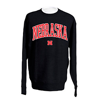 J. America® Men's Black Nebraska Arch Logo Sweatshirt
