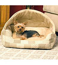 K&H Pet Products Patchwork Hooded Lounge Sleeper