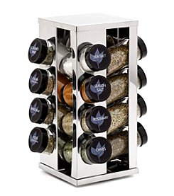 Kamenstein® 16 Jar Filled Heritage Stainless Steel Spice Rack