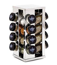 Kamenstein® 16 Jar Filled Heritage Stainless Steel Spice Rack