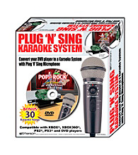 Emerson® Plug 'N' Sing Karaoke Microphone with Echo & 30 Pop Karaoke Songs on DVD