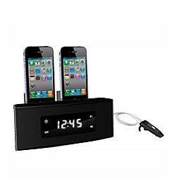 Dok 3-Port Smart Phone Charger with Alarm Clock Radio