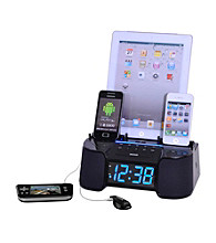 Dok 6-Port Smart Phone Charger with Alarm Clock Radio