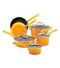 Rachael Ray® Porcelain II 10-pc. Yellow Cookware Set