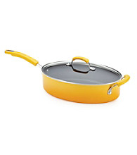 Rachael Ray® Porcelain II 5-qt. Yellow Covered Saute Pan with Helper Handle