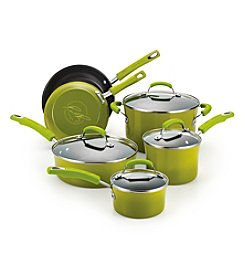 Rachael Ray® 10-pc. Green Porcelain Hard Enamel II Cookware Set