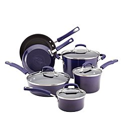 Rachael Ray® Porcelain Hard Enamel II 10-pc. Purple Cookware Set + FREE Gift see offer details