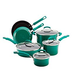 Rachael Ray® 10-pc. Fennel Porcelain Hard Enamel II Cookware Set + FREE Gift see offer details
