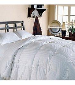 Blue Ridge Home Fashions Supreme Damask Stripe White Down Comforter