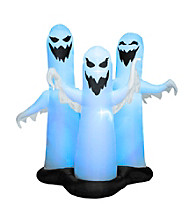 6 ft Airblown Color Changing Ghost Trio
